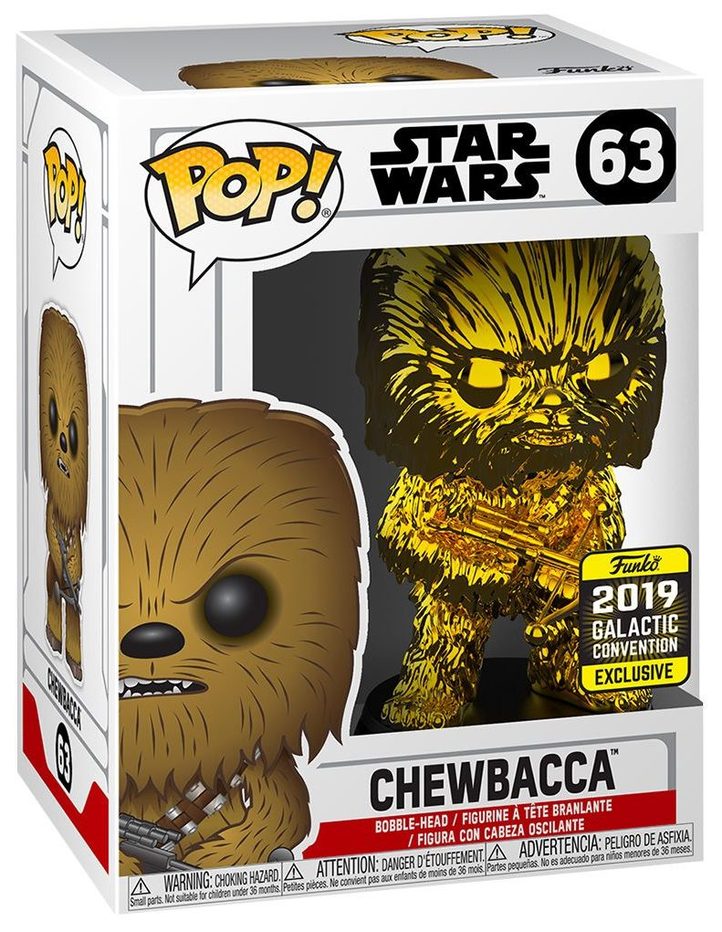 Chewbacca 2019 Funko Pop Star Wars™ Vinyl GOLD CHROME EXCLUSIVE 8//10